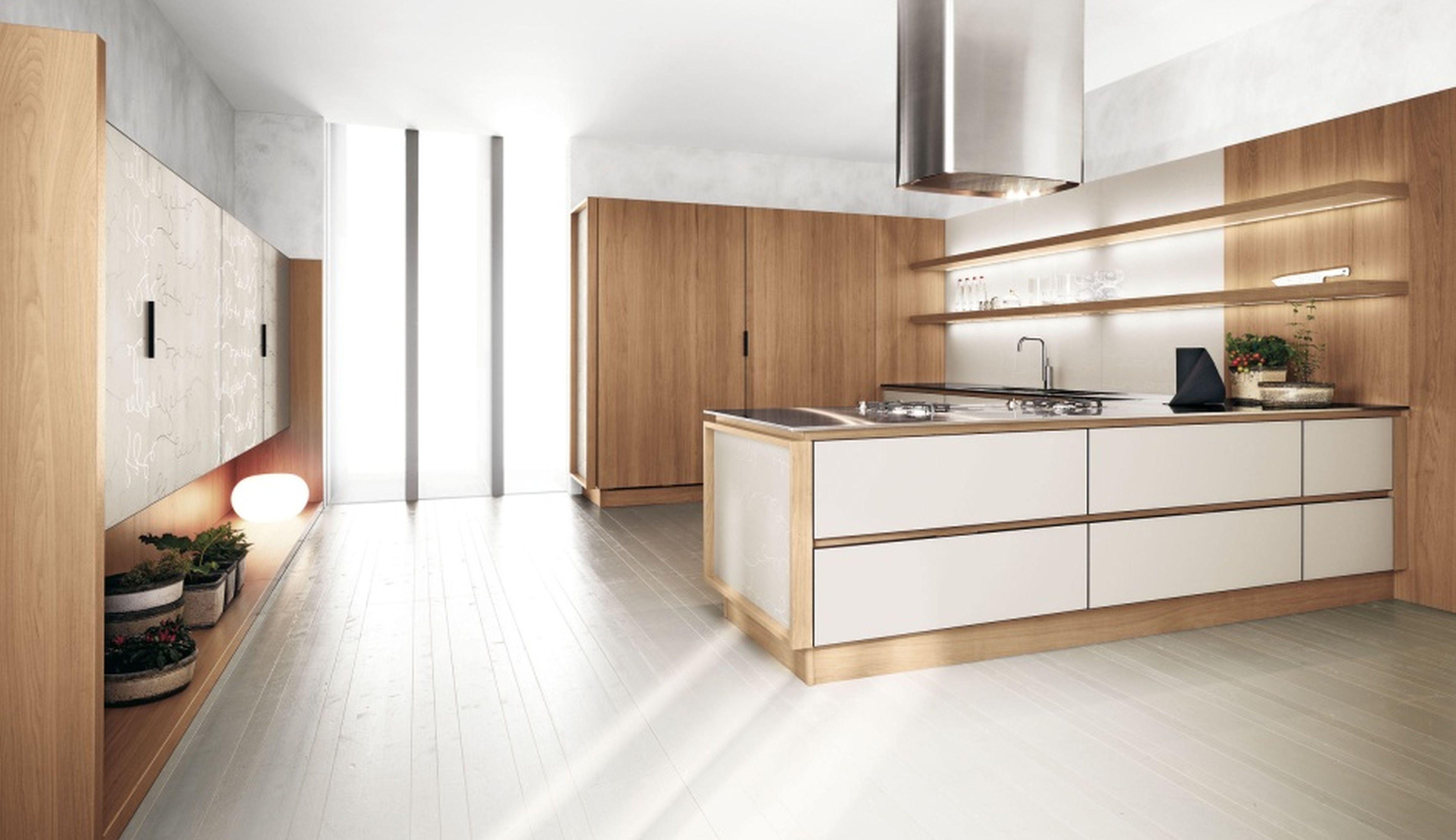 two tone modern white kitchen Google Search