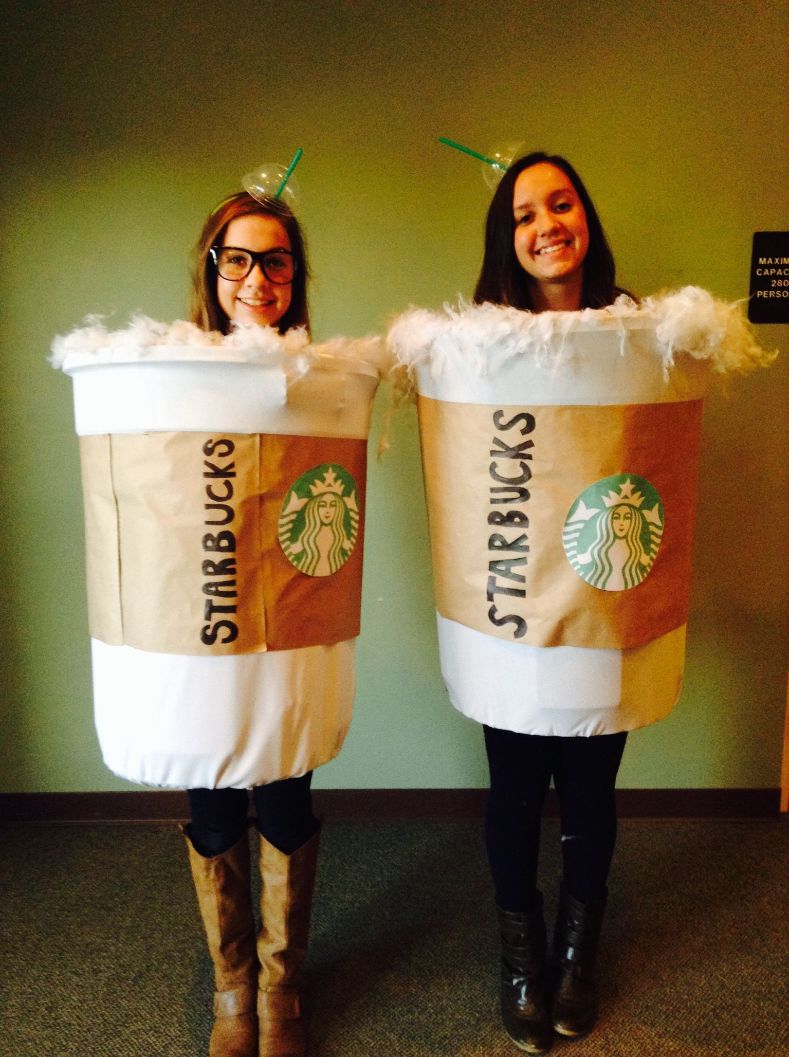 Starbucks Halloween costume idea! Made with a plastic