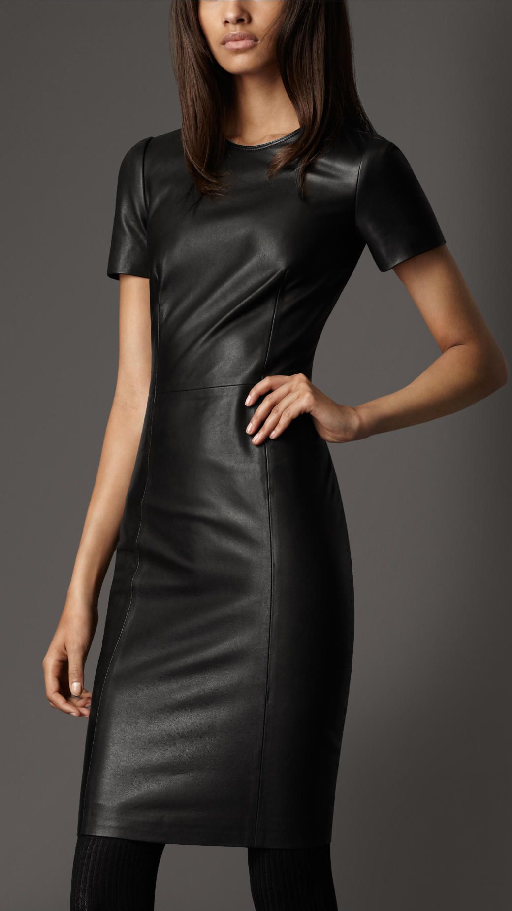 Burberry FITTED LEATHER DRESS Looking Good Pinterest
