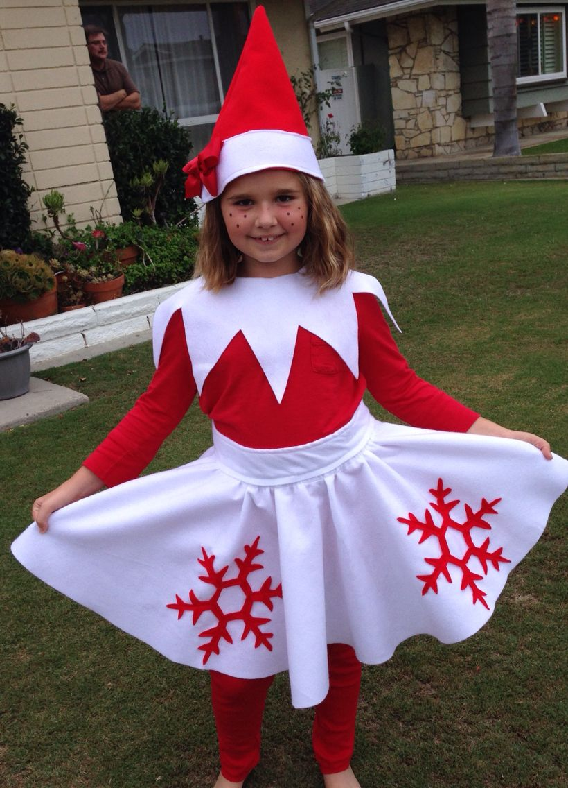 Elf on the Shelf Halloween Costume. No pattern, no link