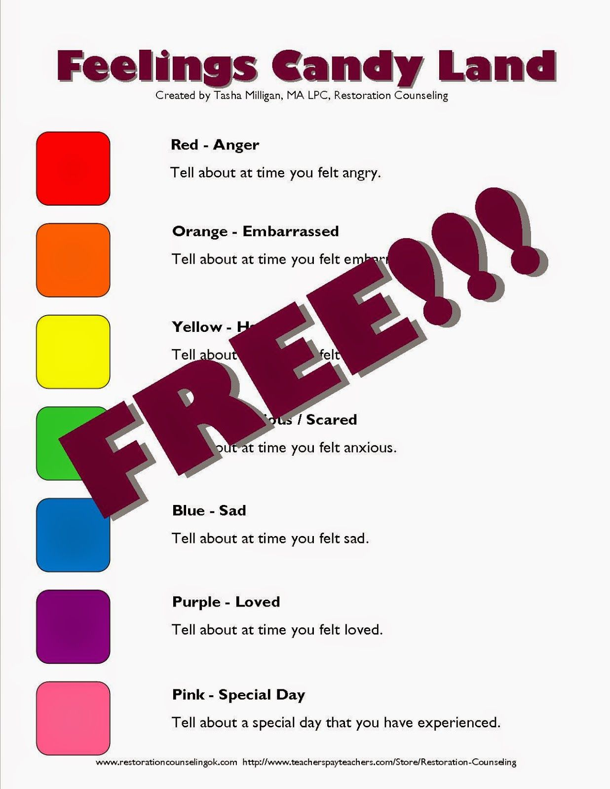 Free Printable Guide To Transform Candy Land Into A