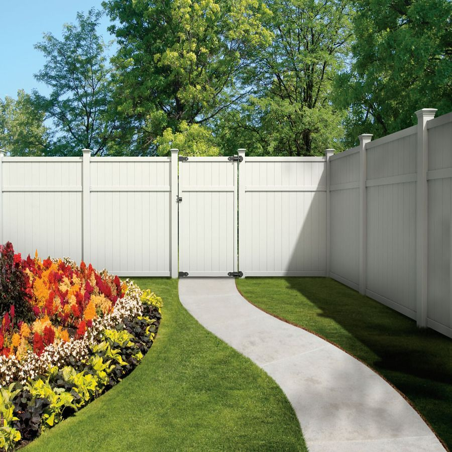Shop Gatehouse Arborley 6ft x 6ft White FlatTop Privacy