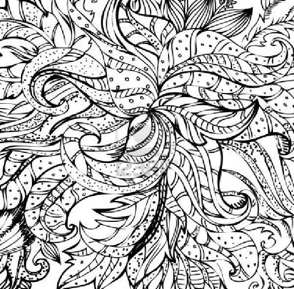 gallery abstract flowers coloring pages