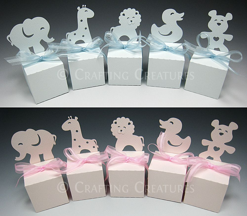 Party animal favor boxes made with custom designed pattern