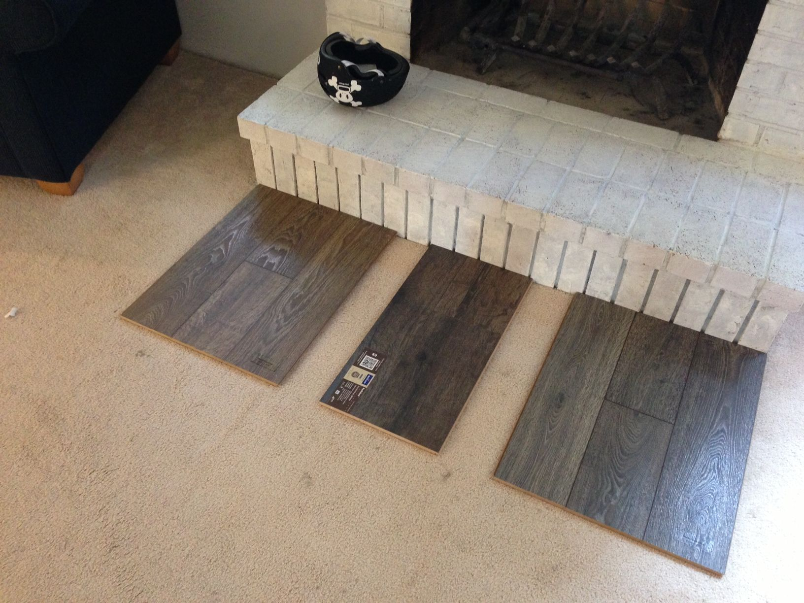 Laminate floor comparison Left Mannington Black Forest