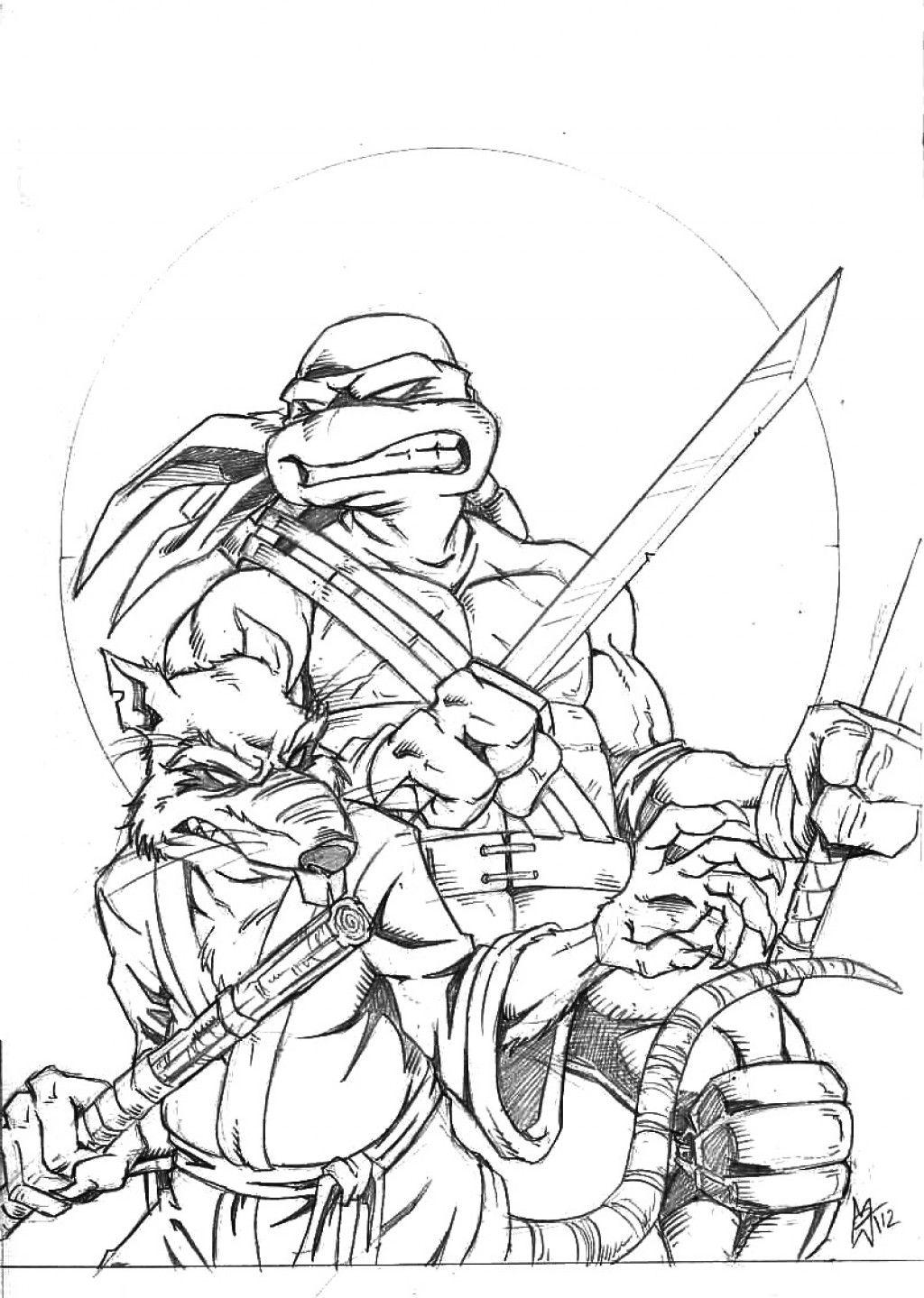 Kleurplaat Ninja Turtles Masker