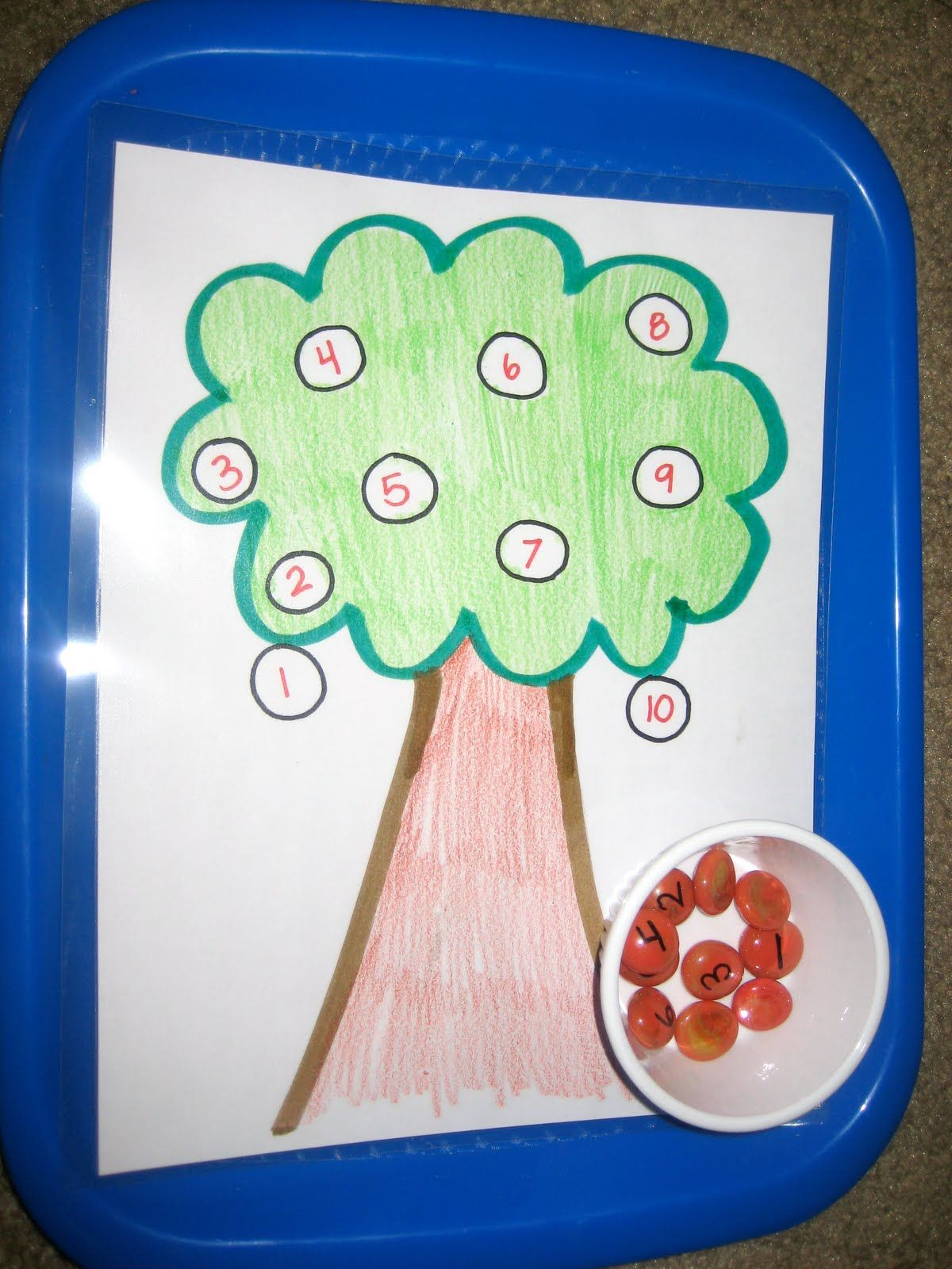 Counting Apples Add Tweezers For A Fine Motor Challenge