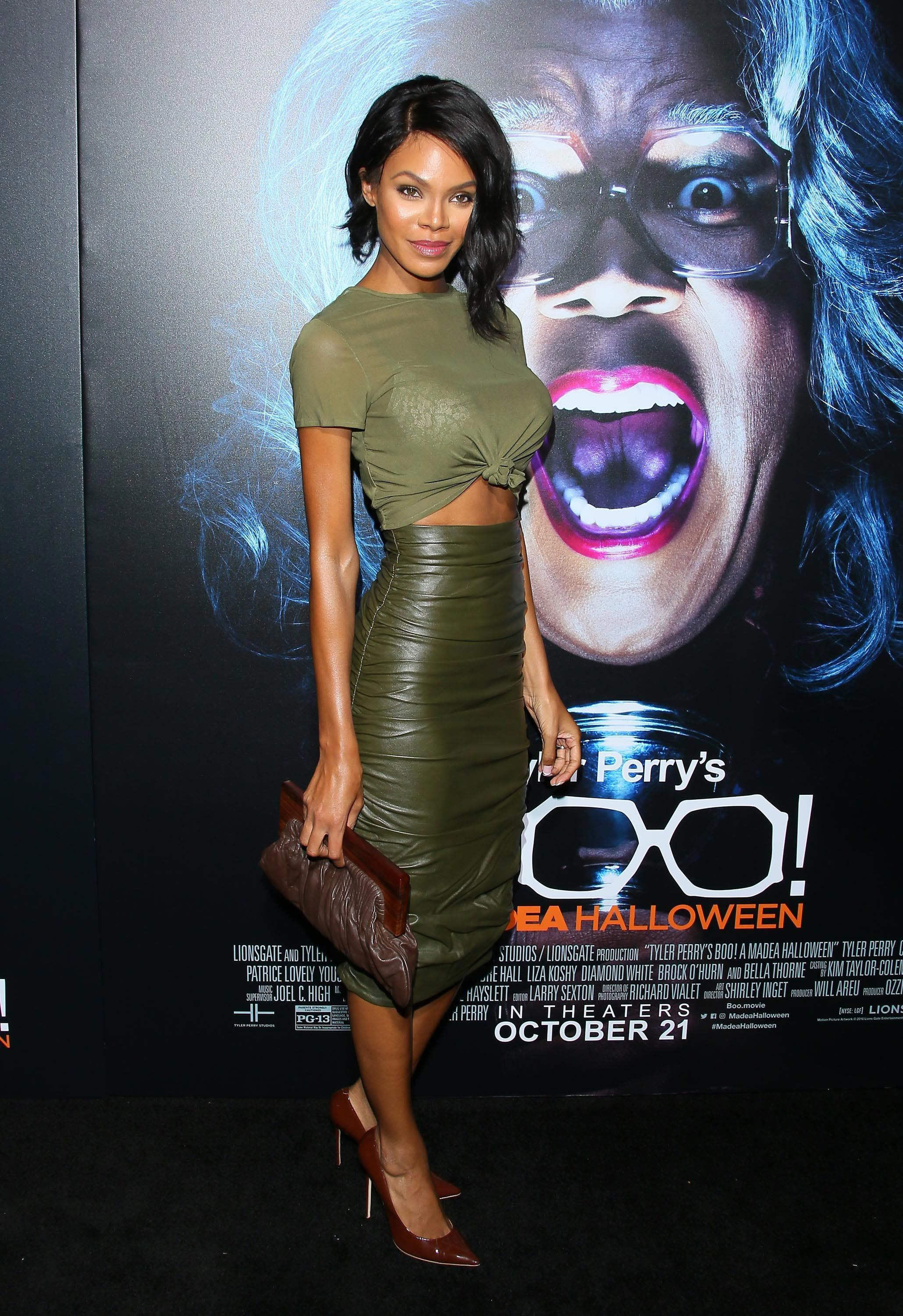 Crystle Stewart attends the premiere of Lionsgate's' 'Boo