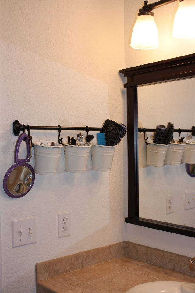Painted Thrift Store Shower Curtain Hooks