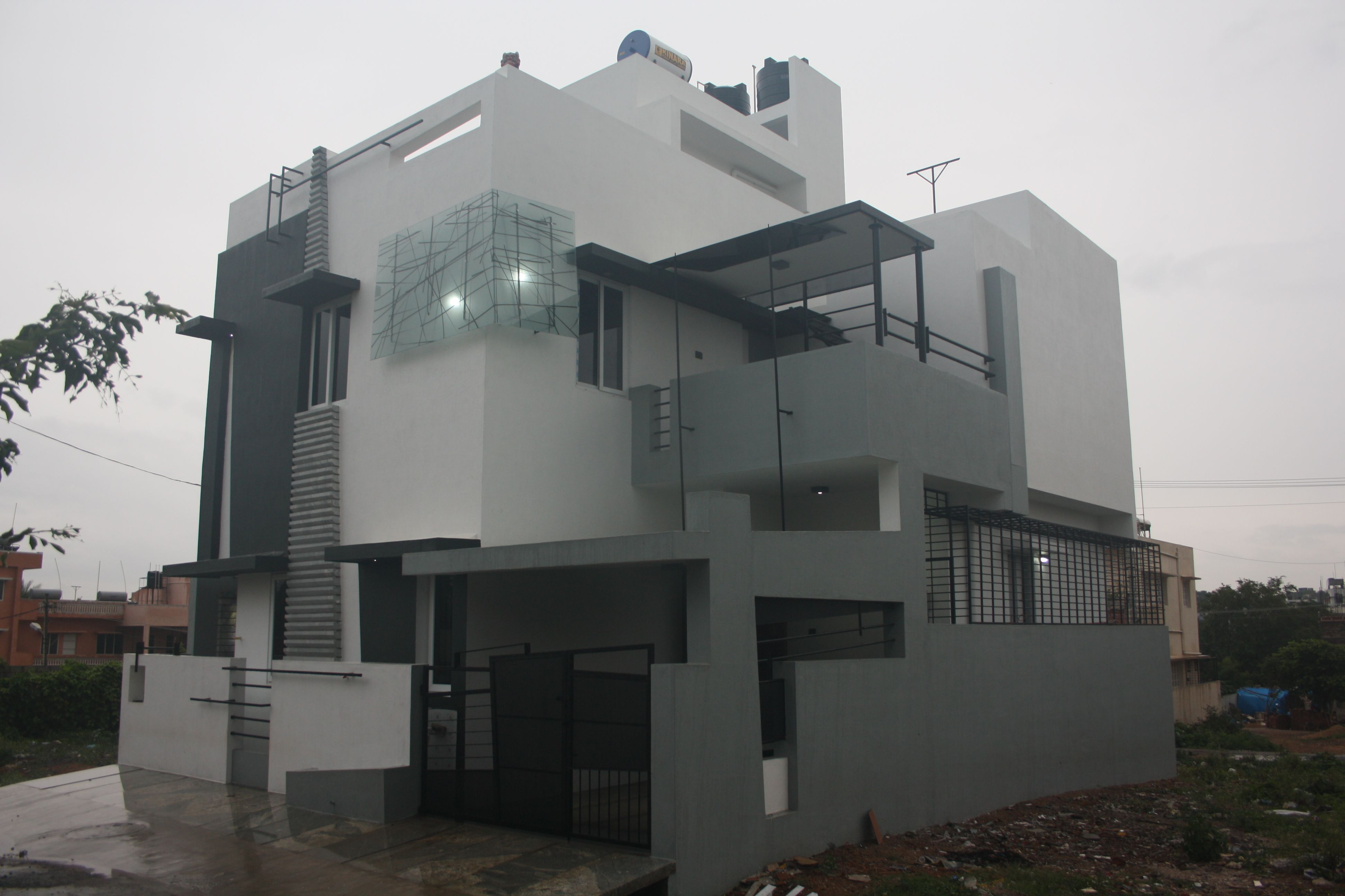 Arun's Bungalow Front Elevation Actual site image of