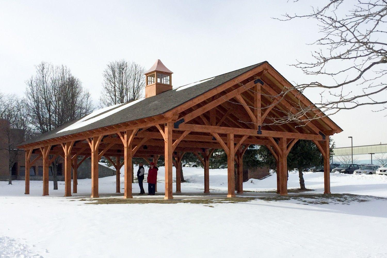 30 X 50 Timber Frame Pavilion At Wcsu The Barn Yard