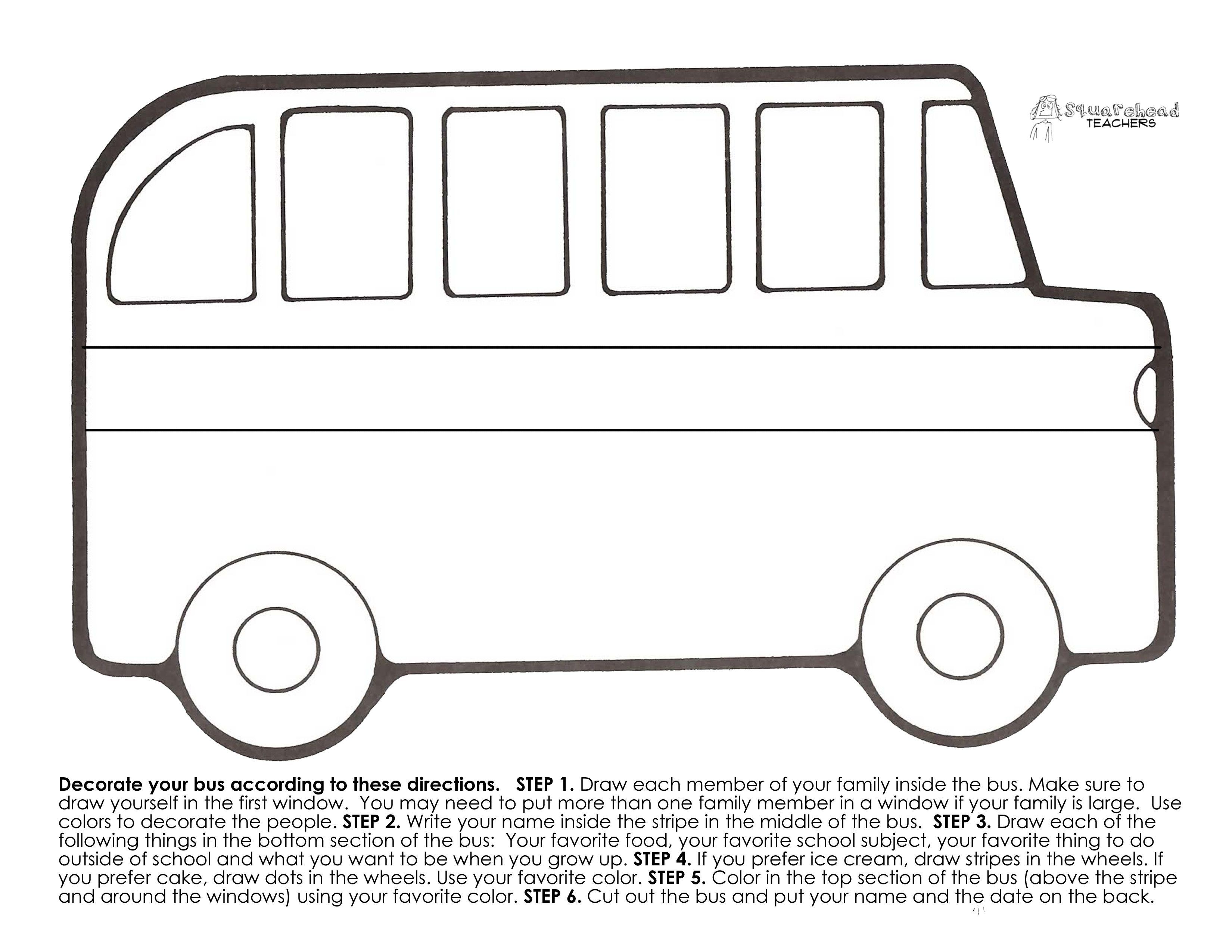 Printable Of A Bus