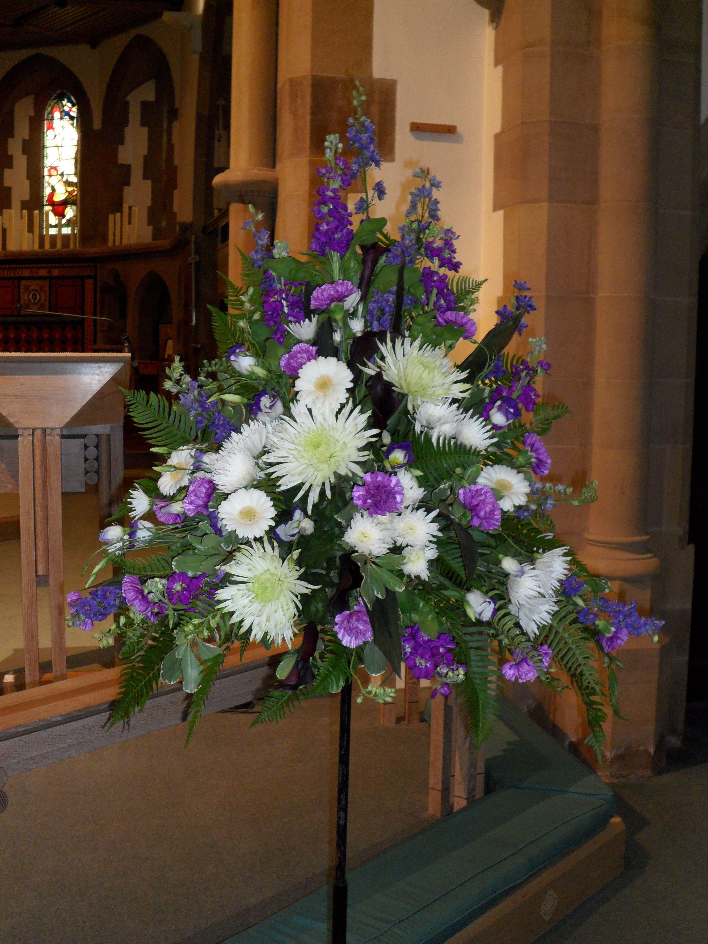 Pedestal Arrangement floral art Pinterest Church