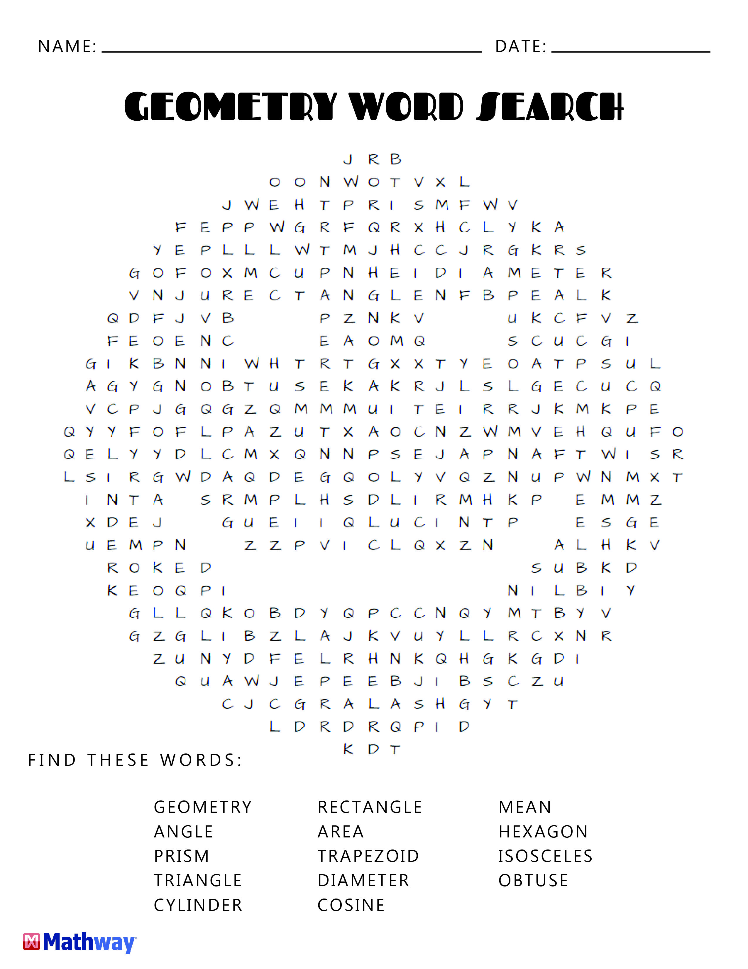 Try Our Geometry Smiley Face Word Search Keep Busy With Our Collection Of Printable Word Search