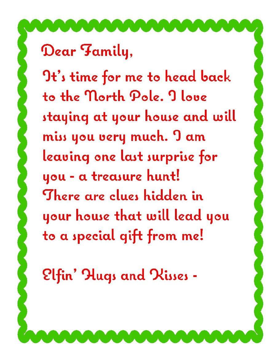 Treasure Hunt Letter elfoutfitters