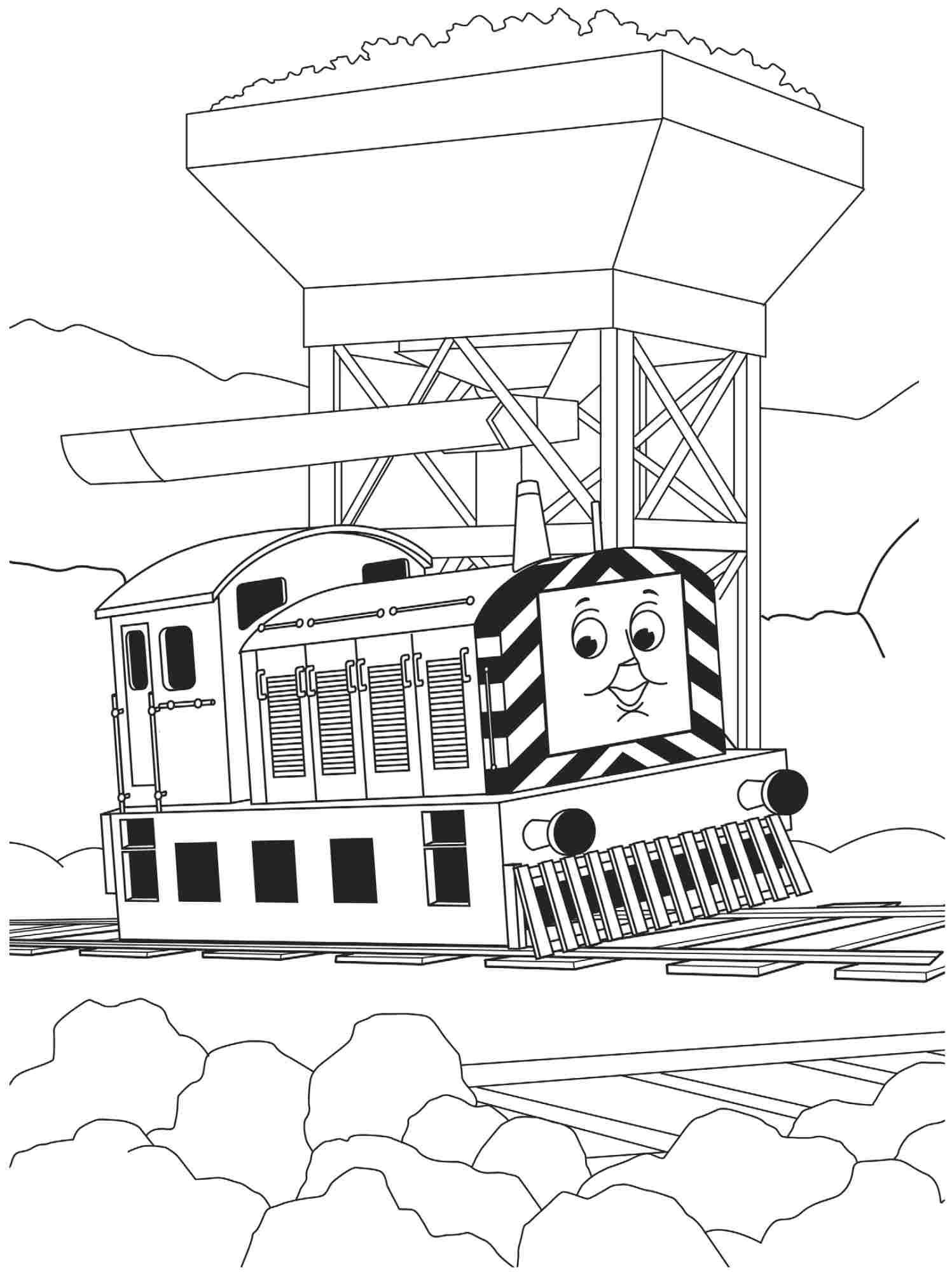 Cartoon Thomas The Train And Friends Coloring Pages Free