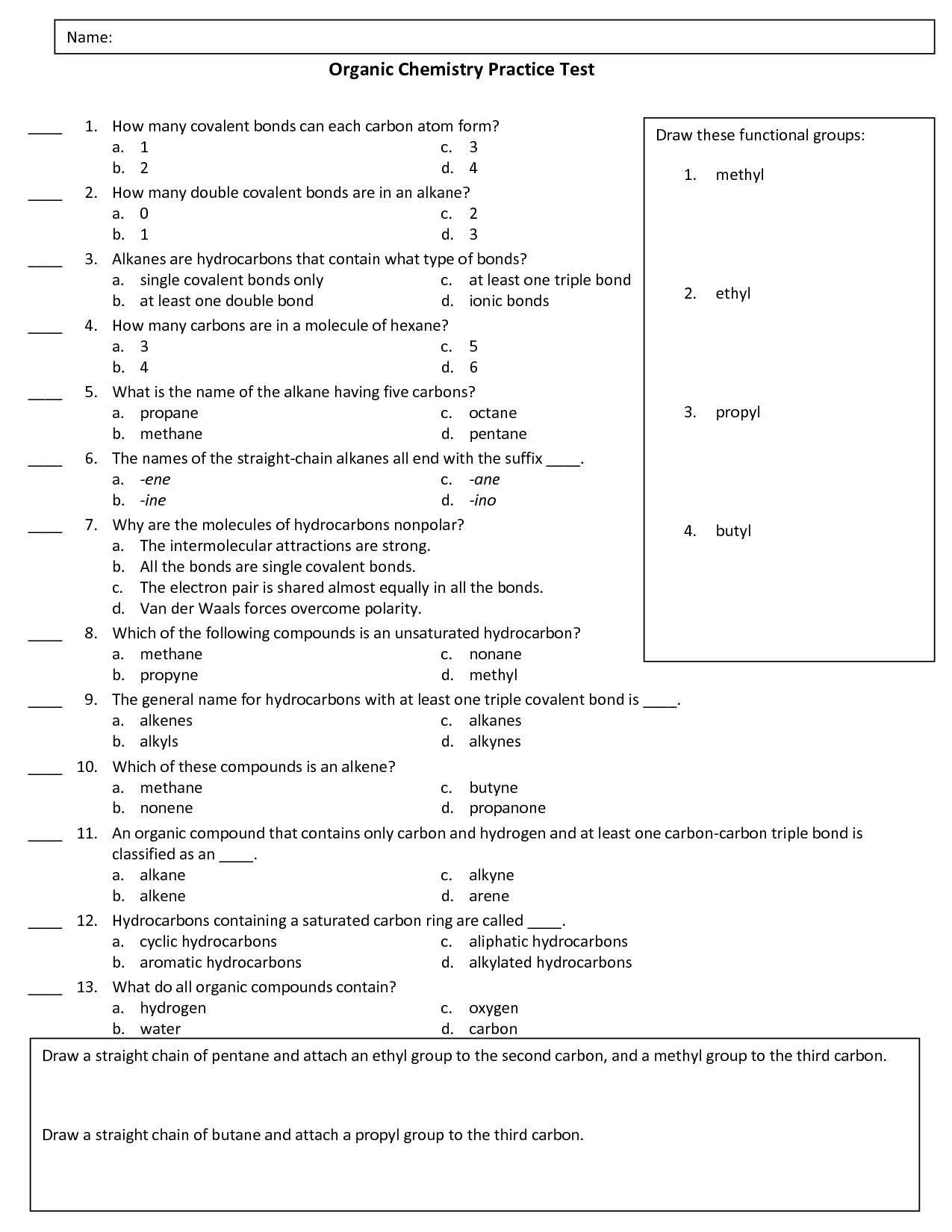 Organic Chemistry Infographic