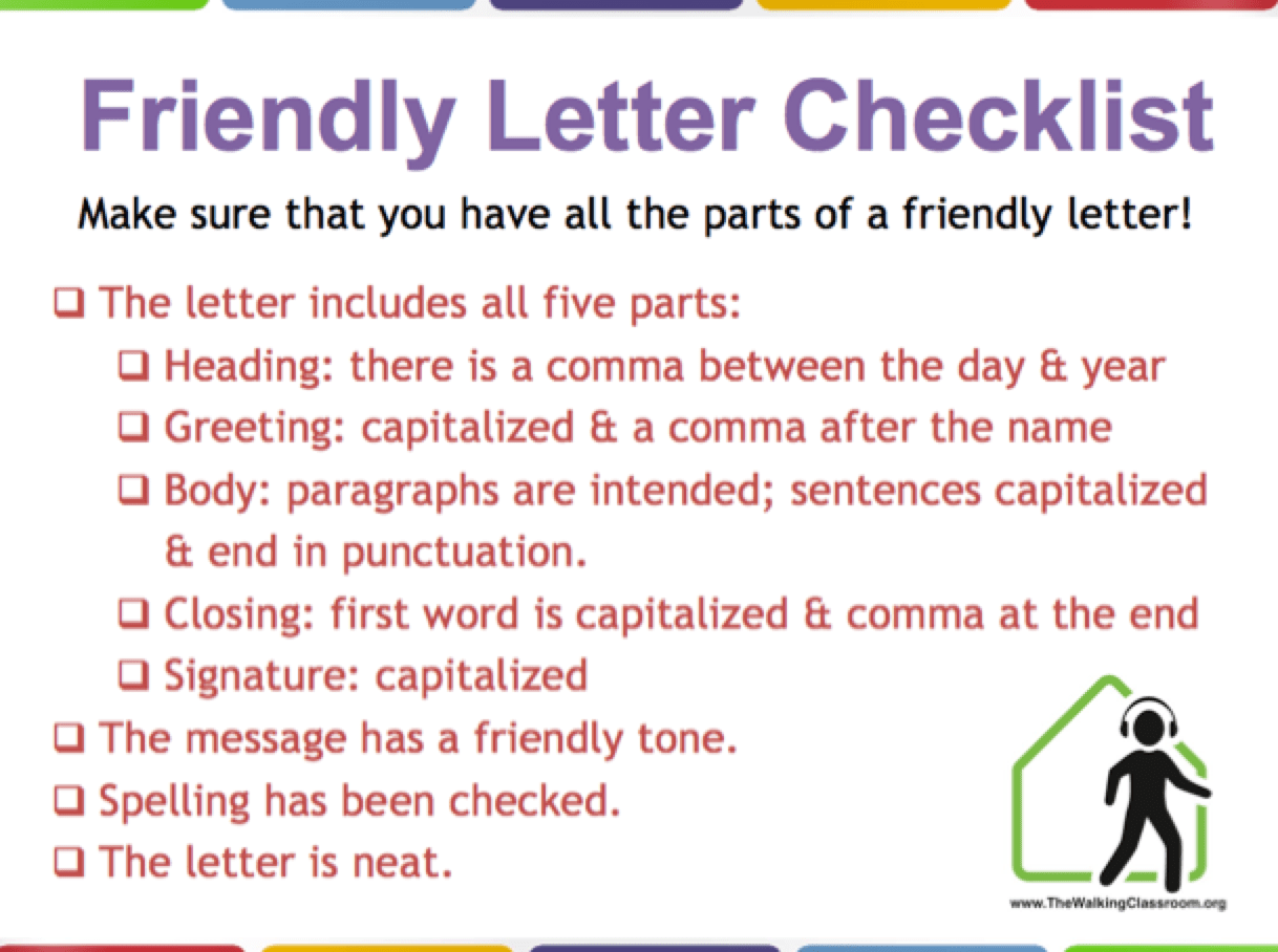 Friendly Letter Lesson Plan Help Your Students Learn The