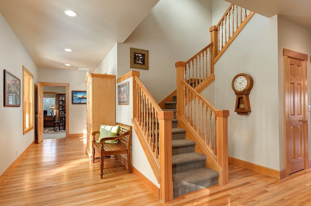 A local example of how stained wood trim can look good if