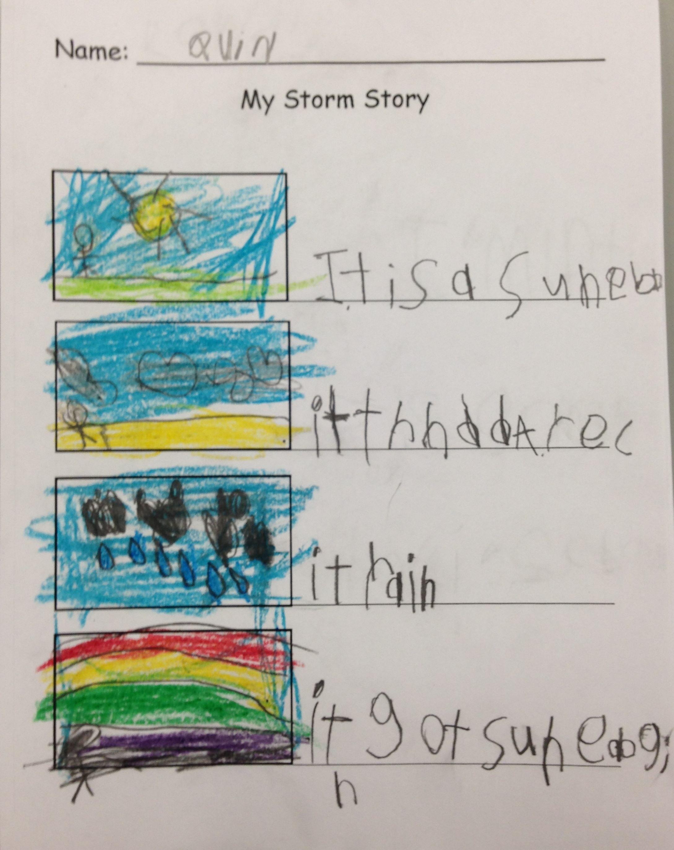 Kindergarten Storm Story