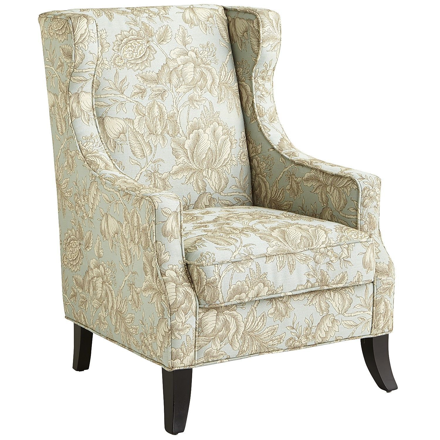 Alec Blue Floral Wing Chair Living rooms, Room and Bedrooms
