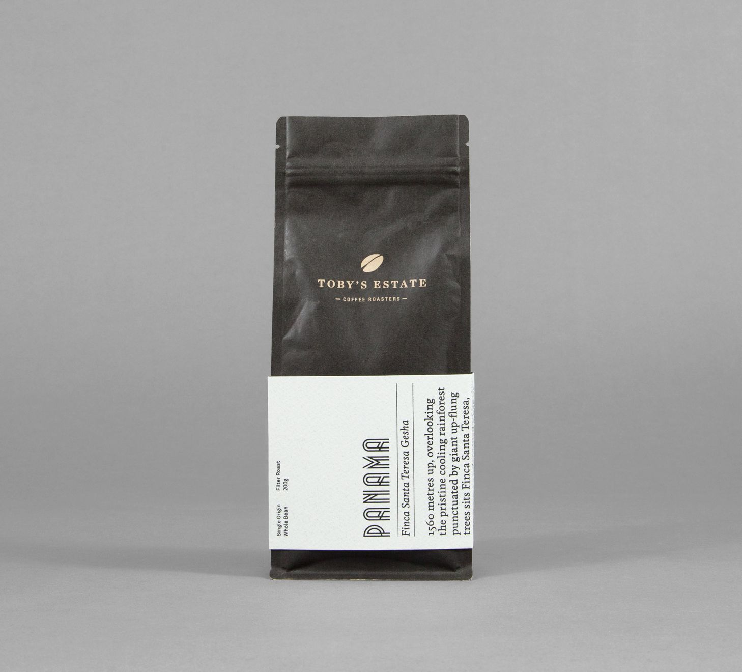 Toby's Estate coffee bean packaging designed by Maud