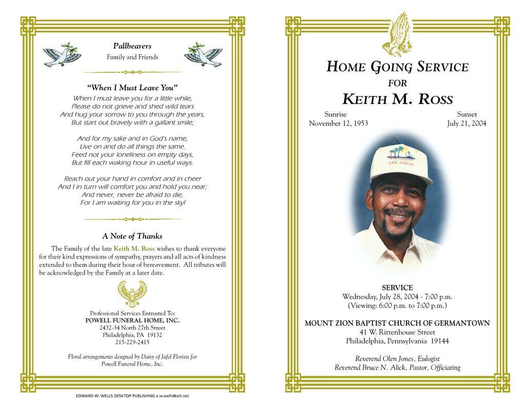Obituary Layout Templates. 7 sample obituary template flyer ...