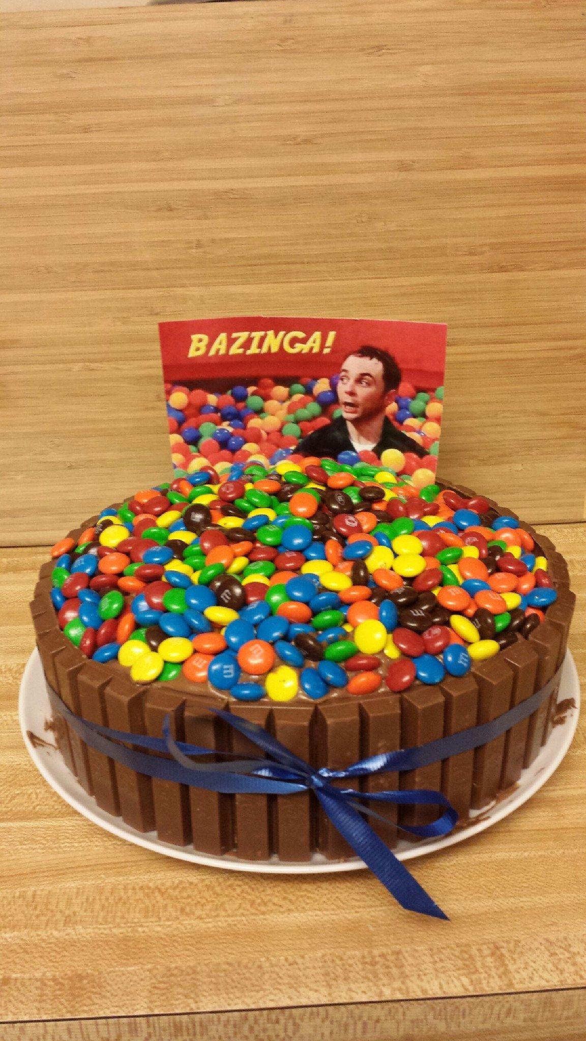 Bazinga cake for my husband's birthday Food Pinterest