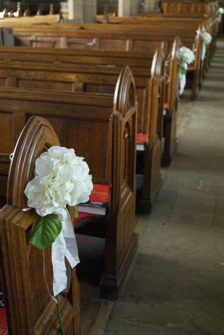 silk flower arrangements for wedding church pews Arley