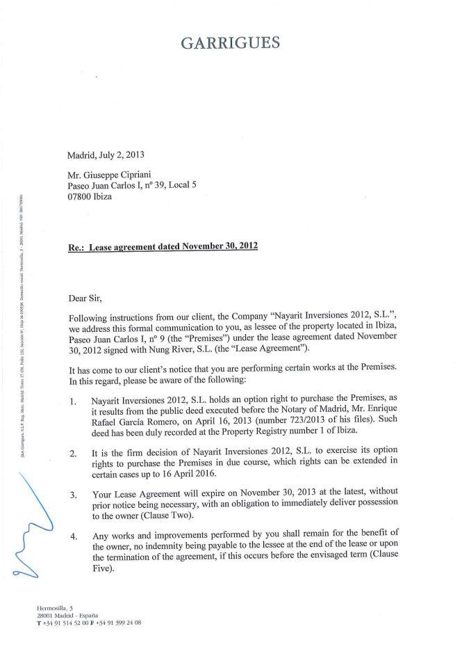 tenant renewal letter