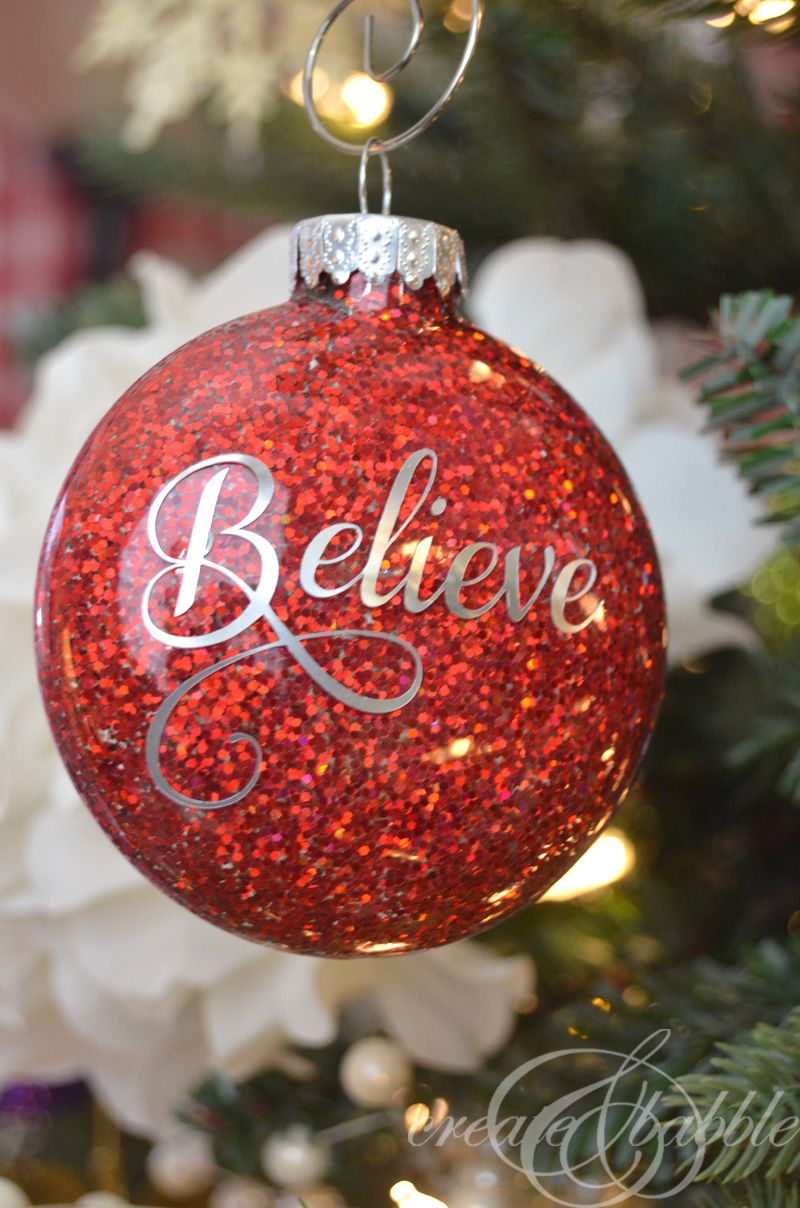 DIY Glitter Christmas Ornaments Glitter, Ornaments and