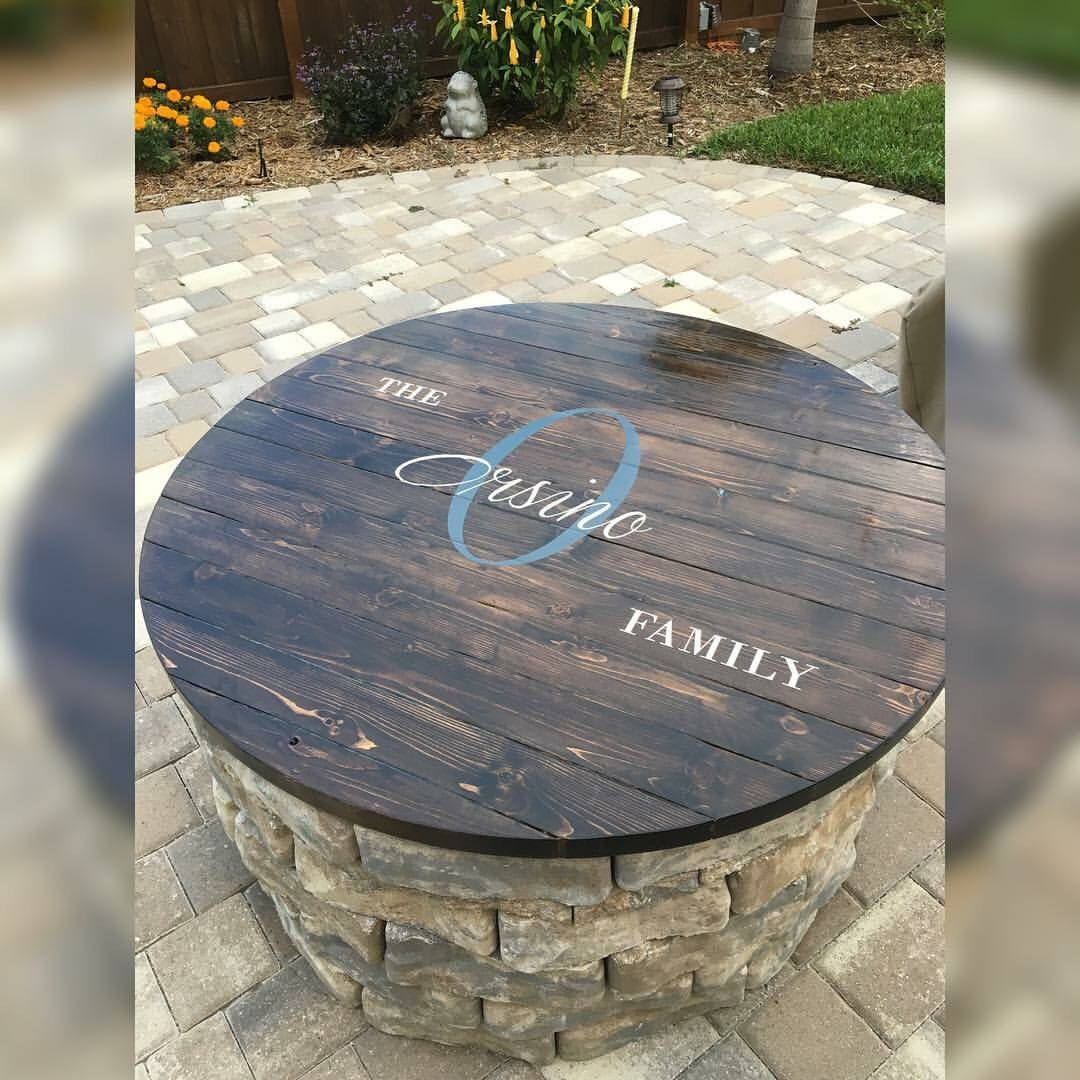 Fire pit table top . backyard Pinterest Table top