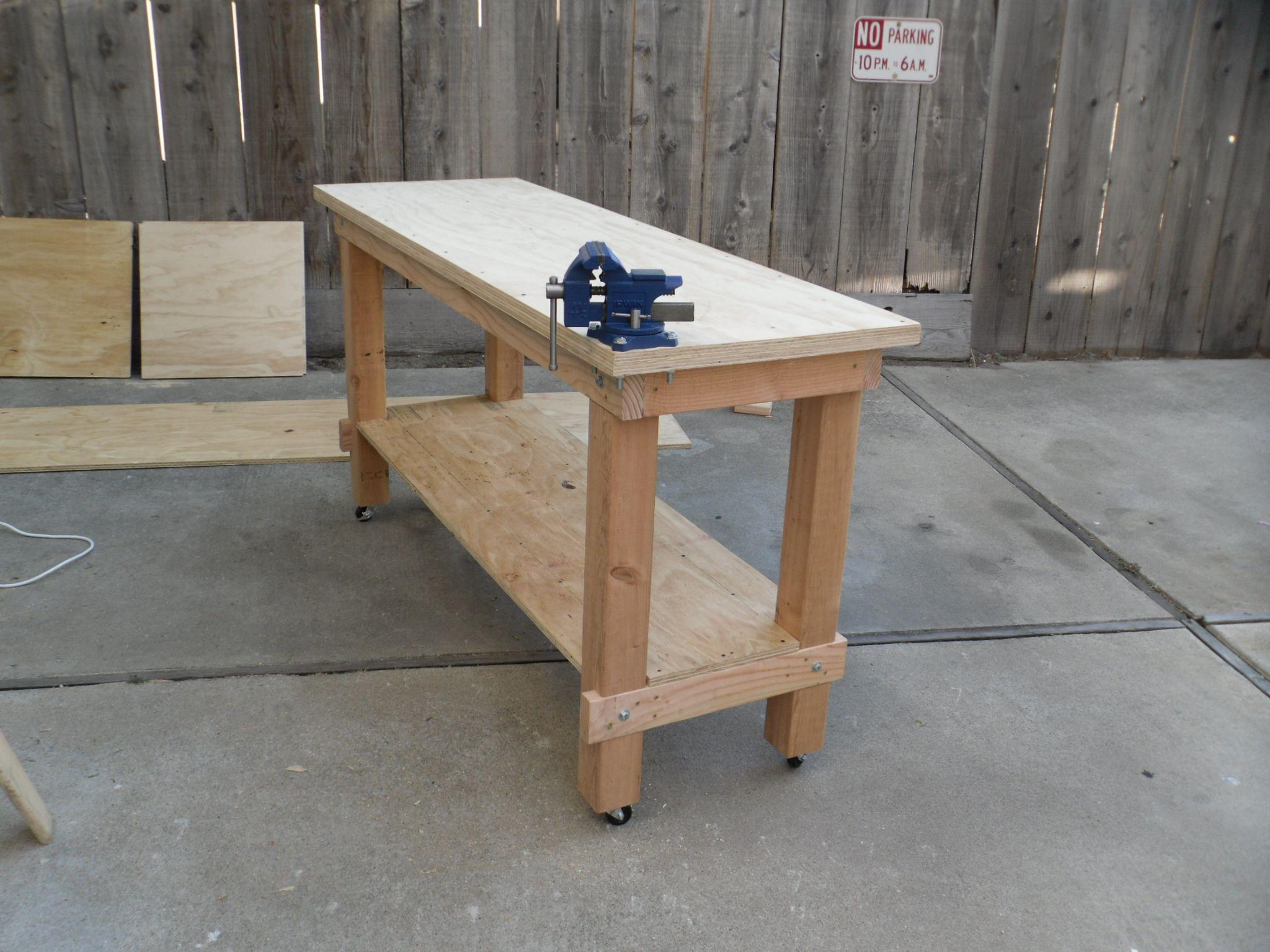 Building A Heavy Duty Workbench Plans DIY Apartment