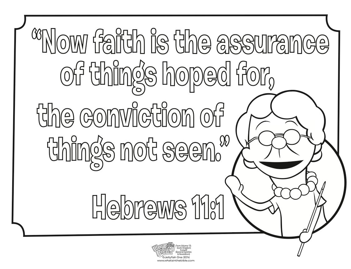Hebrews 11 1 Coloring Page