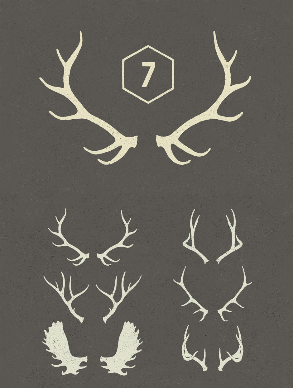 Antlers vectors, taken from our Free Christmas Design