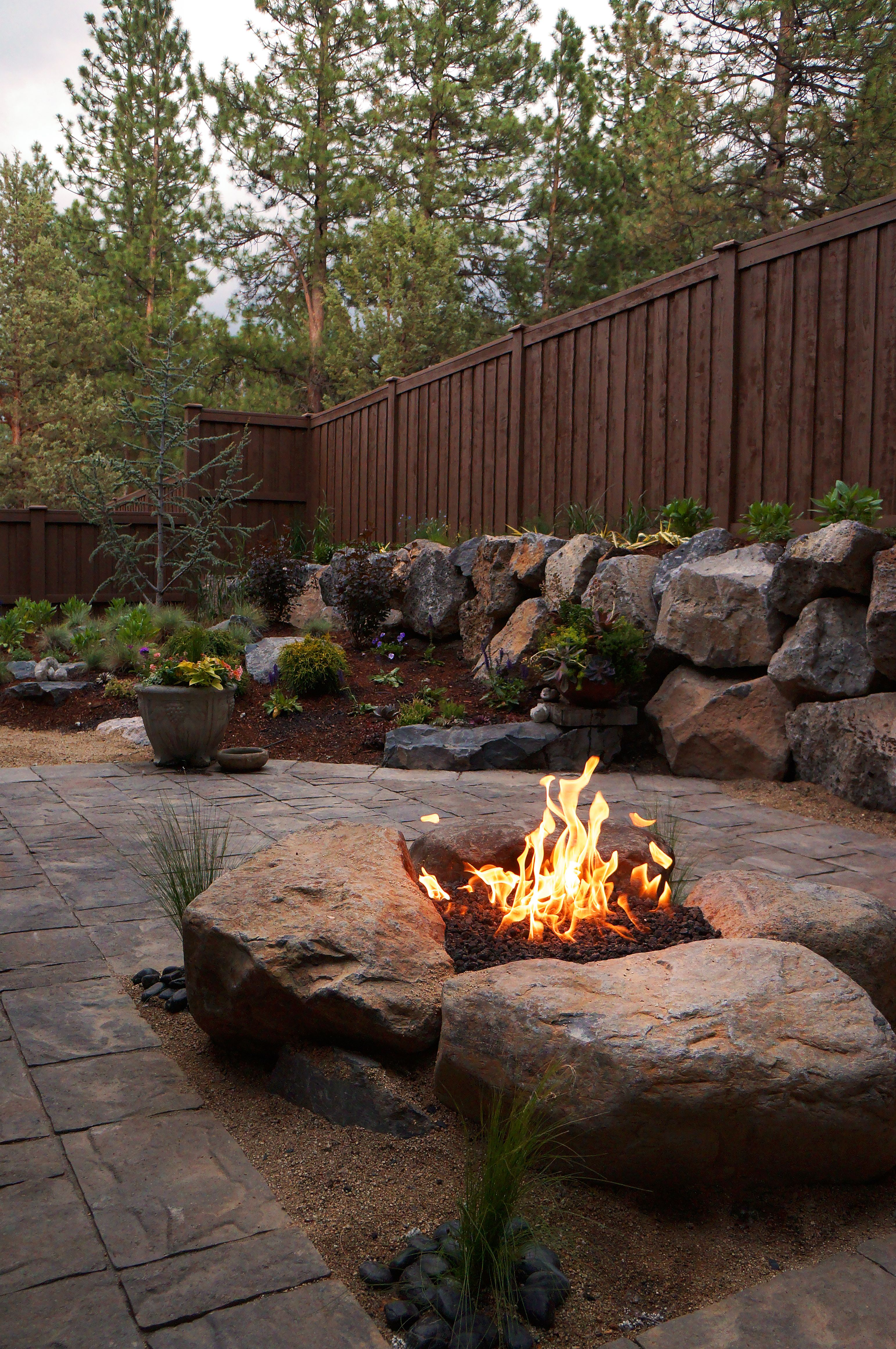 Paver Patio & Gas fire pit in Northwest Bend, Oregon