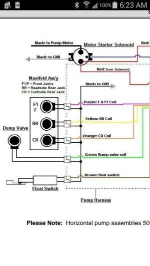2000 Fleetwood bounder leveling jack wiring diagram | Rv