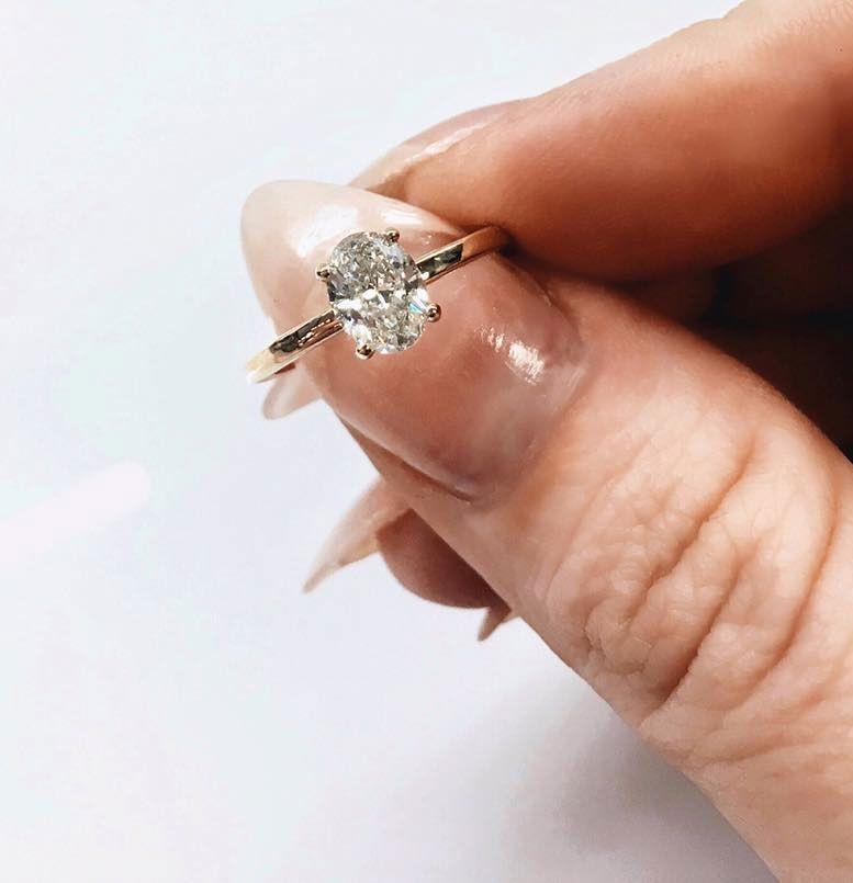 Simple and minimalist Oval diamond cut diamond engagement ring tear drop engagement, oval cut engagement ring #ovalengagementring #ovalcut