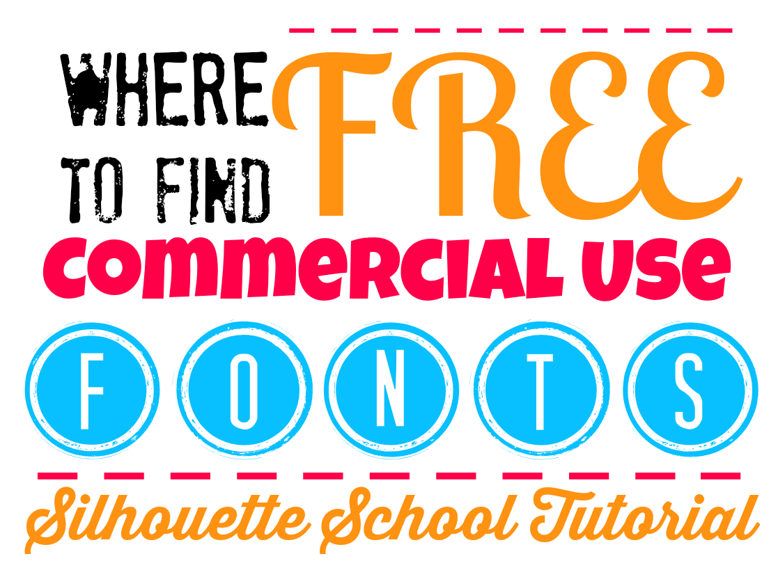 How to Find Free Commercial Fonts Silhouette Tutorial