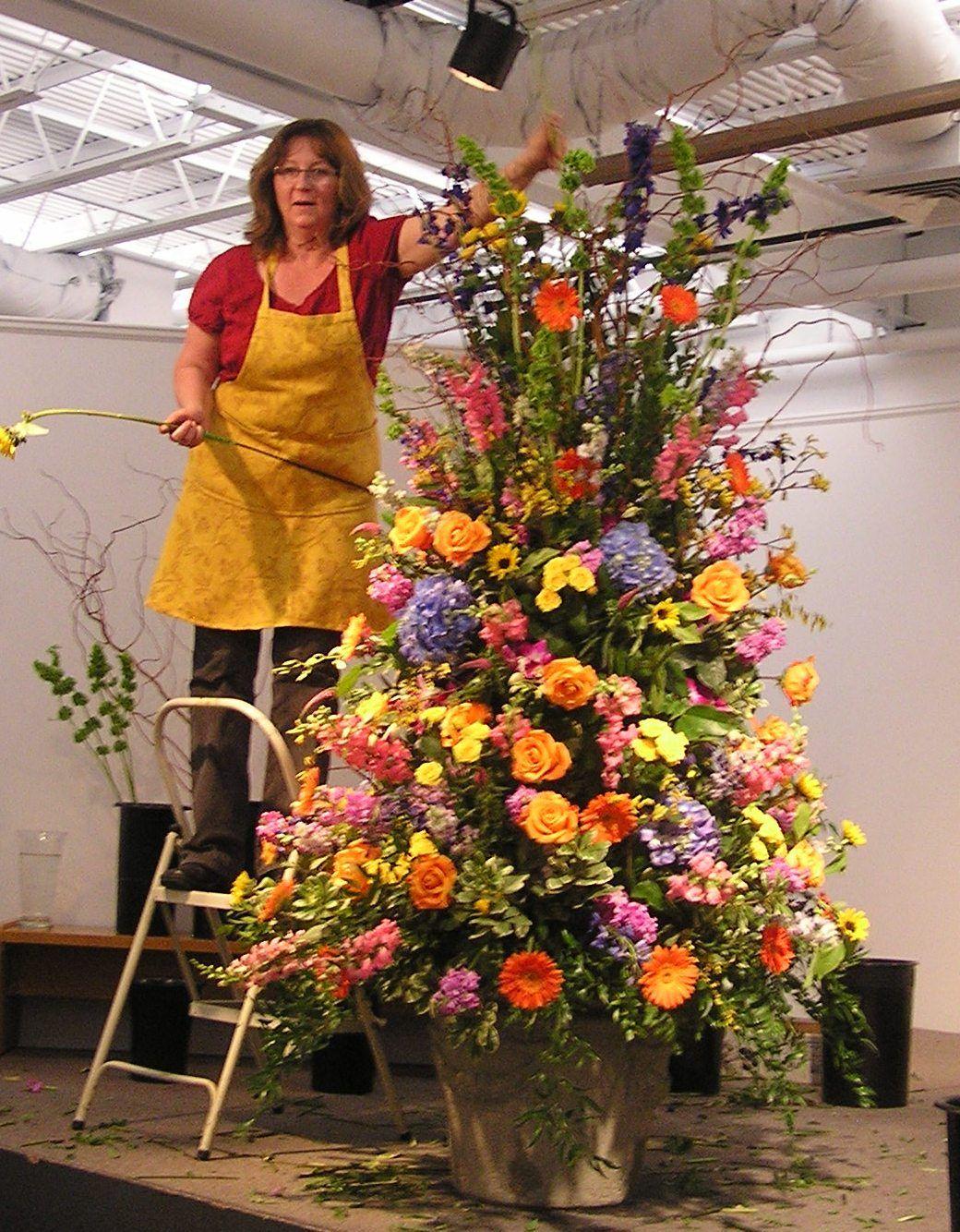 Flower Arranging at Philipstown Garden Club Presentation