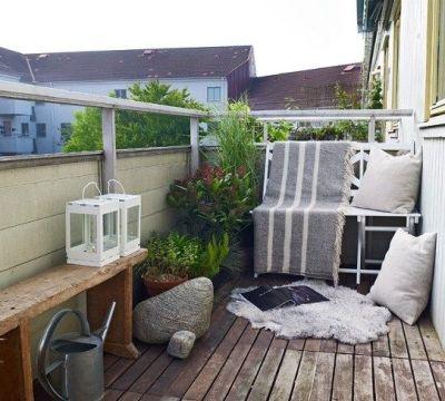 kleiner balkon gestaltungsideen leseecke skandinavisch kleine