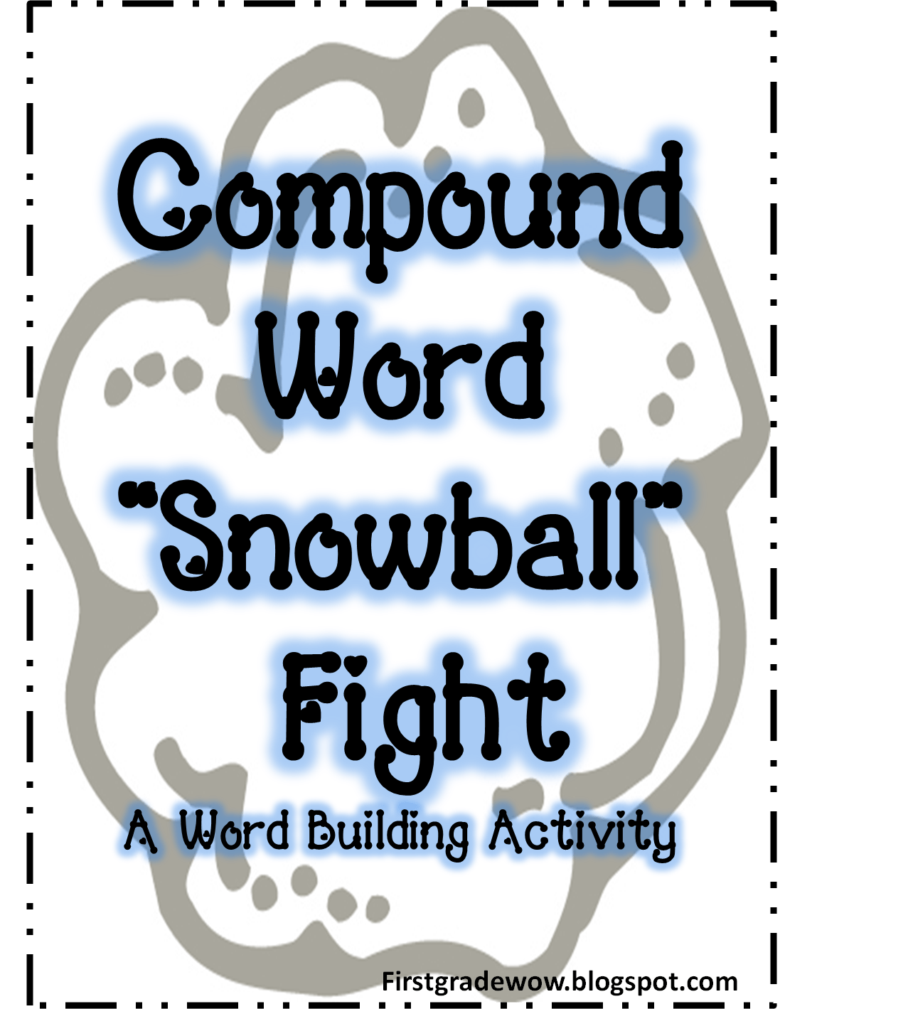 Compound Word Snowball Fight Activity Free Printable