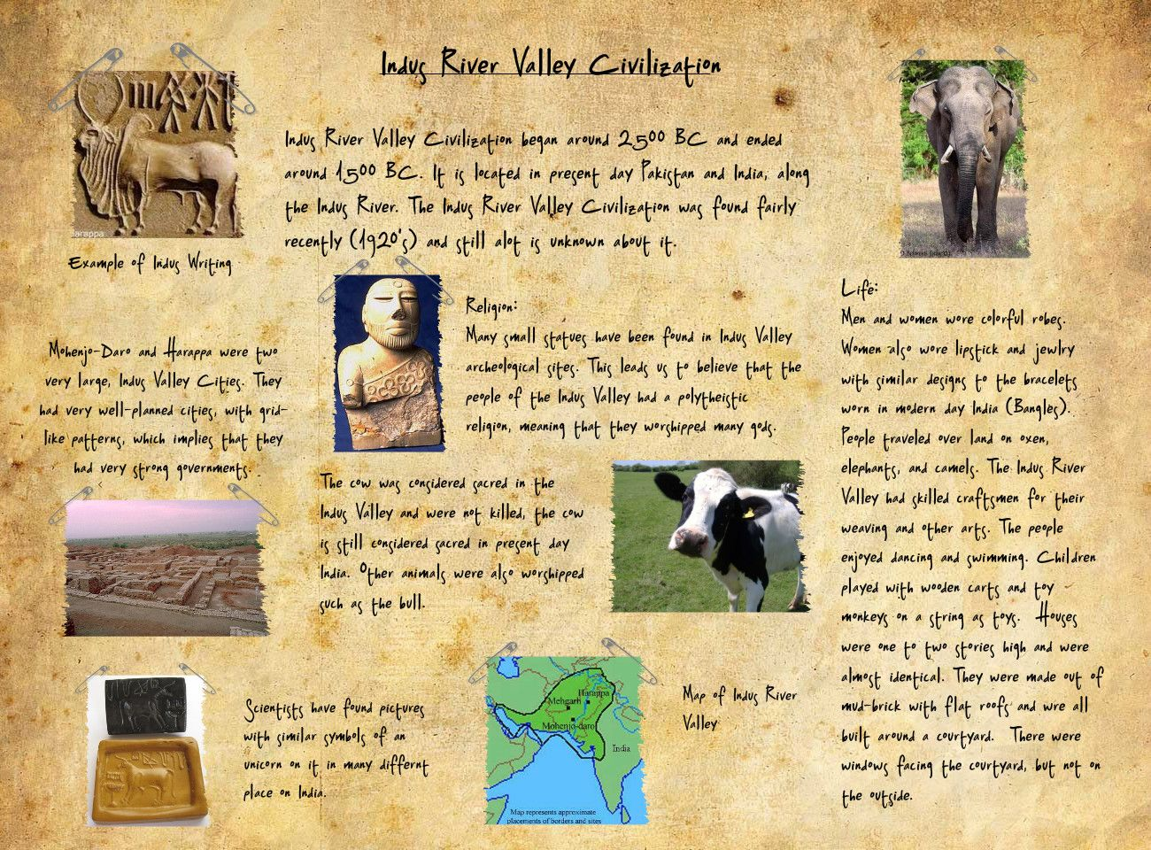 Indus Valley Civilization Project Idea Travel Brochure