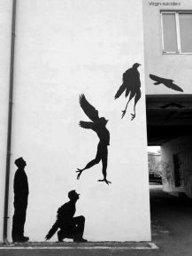 Billedresultat for freedom street art black and white