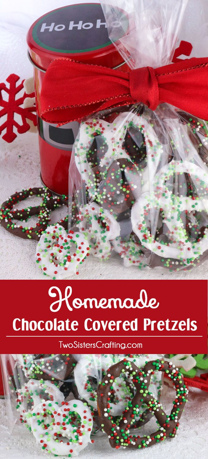 Homemade Chocolate Covered Pretzels Christmas desserts
