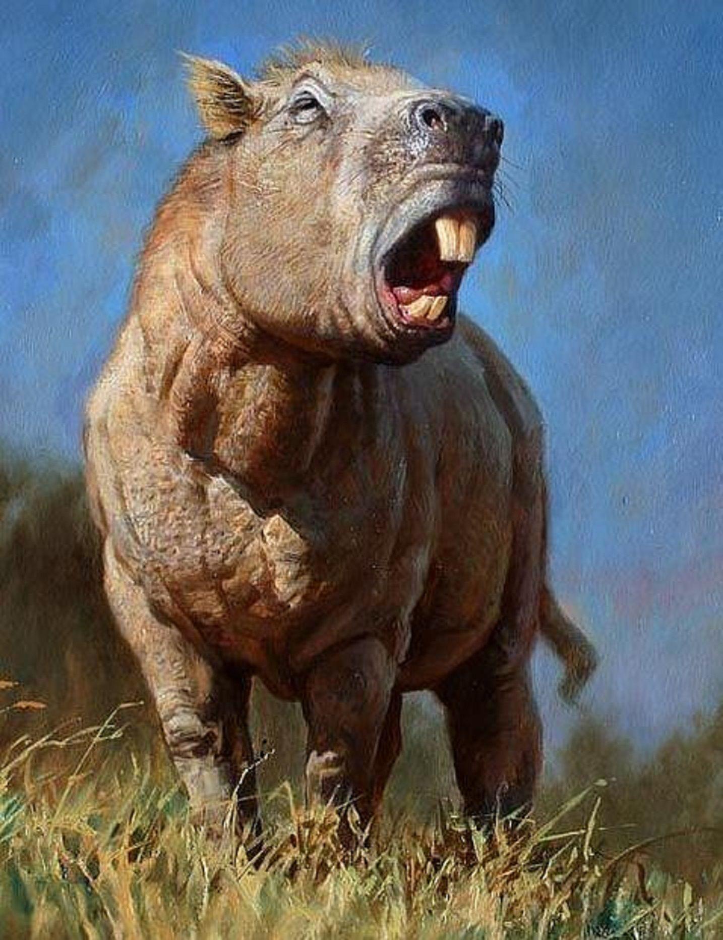 Art illustration Prehistoric Mammals Josephoartigasia