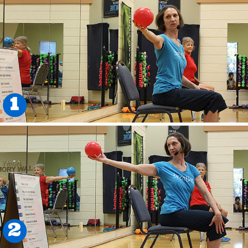 Mirror on the ball Chair exercises Exercise