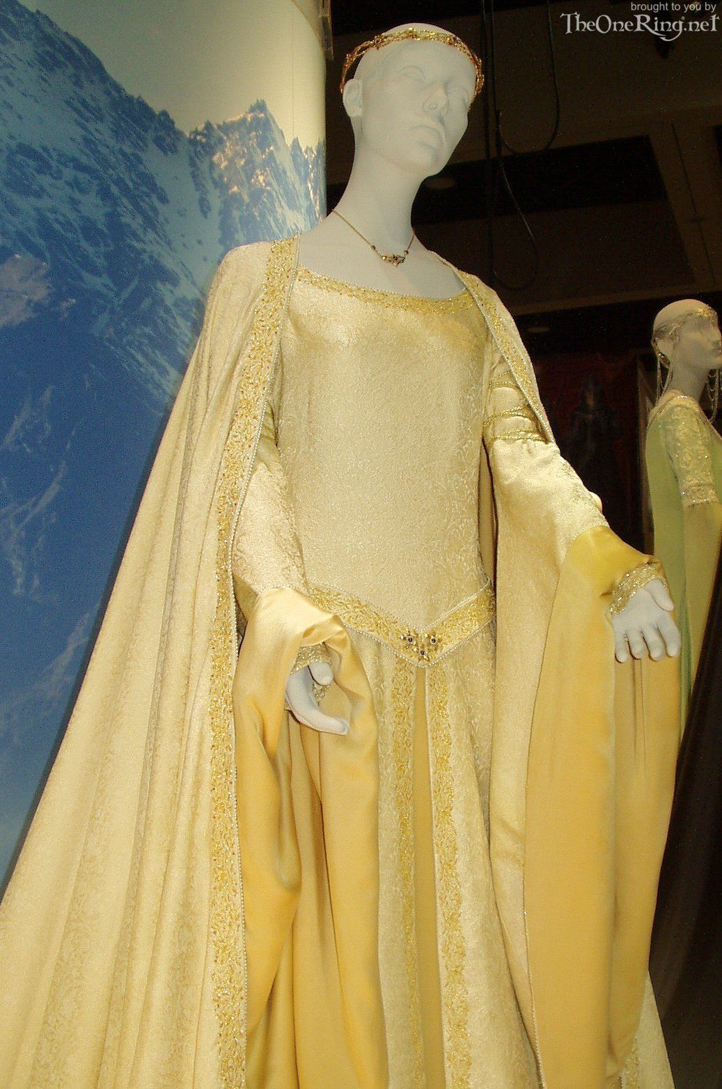 Eowyn Golden Wedding Dress Museum Exhibit Costumes (Not
