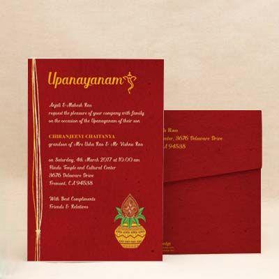 Invitation Card For Sacred Thread Ceremony Invitationjpgcom
