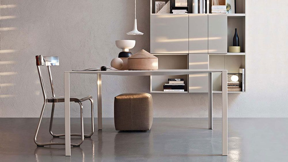 bureau design effet metallise http www denisinterieur be